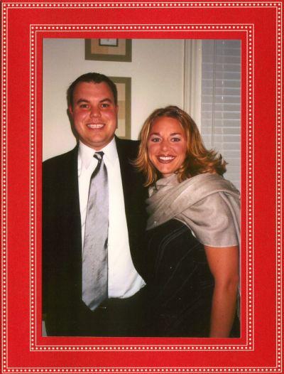 Beaded Red Folded Digital Photo Card
