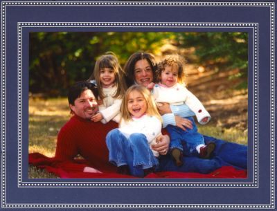 Beaded Navy Folded Digital Photo Card
