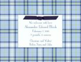 Blue Plaid Invitation or Announcement Personalized by Boatman Geller
