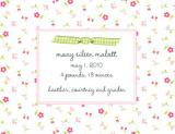 Tiny Flower Invitation or Announcement Personalized by Boatman Geller