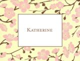 Pink Blossom Foldover Note Personalized by Boatman Geller