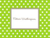 Dot Lime Foldover Note Personalized by Boatman Geller