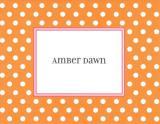Orange Dot Foldover Note Personalized by Boatman Geller