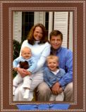 Beaded Brown Folded Digital Photo Card Personalized by Boatman Geller