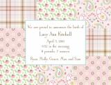 Riley Patch Girl Announcement Personalized by Boatman Geller