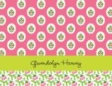 Block Provincial Pink Stationery Personalized by Boatman Geller