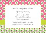 Block Provincial Pink Invitation or Announcement Personalized by Boatman Geller