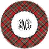 Plaid Red Personalized Plates Personalized by Boatman Geller