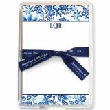 Willow Floral Blue Stationery Personalized by Boatman Geller