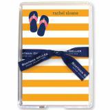 Stripe Flip Flops Stationery Personalized by Boatman Geller