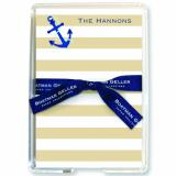 Stripe Anchor Stationery Personalized by Boatman Geller