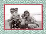 Mosaic Blue Folded Digital Photo Card Personalized by Boatman Geller