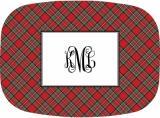 Plaid Red  Melamine Platter by Boatman Geller.