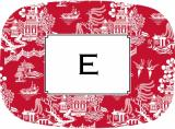 Chinoiserie Red Melamine Platter by Boatman Geller.