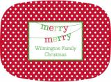 Banner Merry Merry Melamine Platter by Boatman Geller.