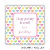 Candy Hearts Boatman Geller Valentine Square Sticker