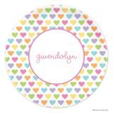 Candy Hearts Boatman Geller Valentine Melamine Plate