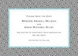 Greek Tile Midnight Save the Date Personalized by Boatman Geller