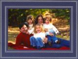Beaded Navy Folded Digital Photo Card Personalized by Boatman Geller