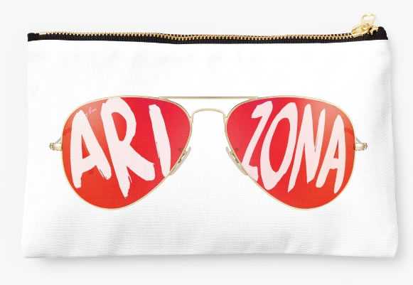 University of Arizona Wildcats Zippered Pouch, Sunglasses Pattern