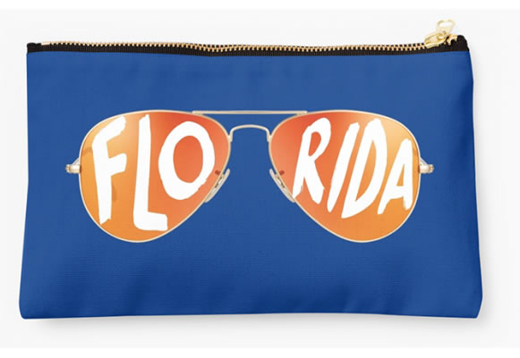 University of Florida Gators Zippered Pouch, Sunglasses Pattern