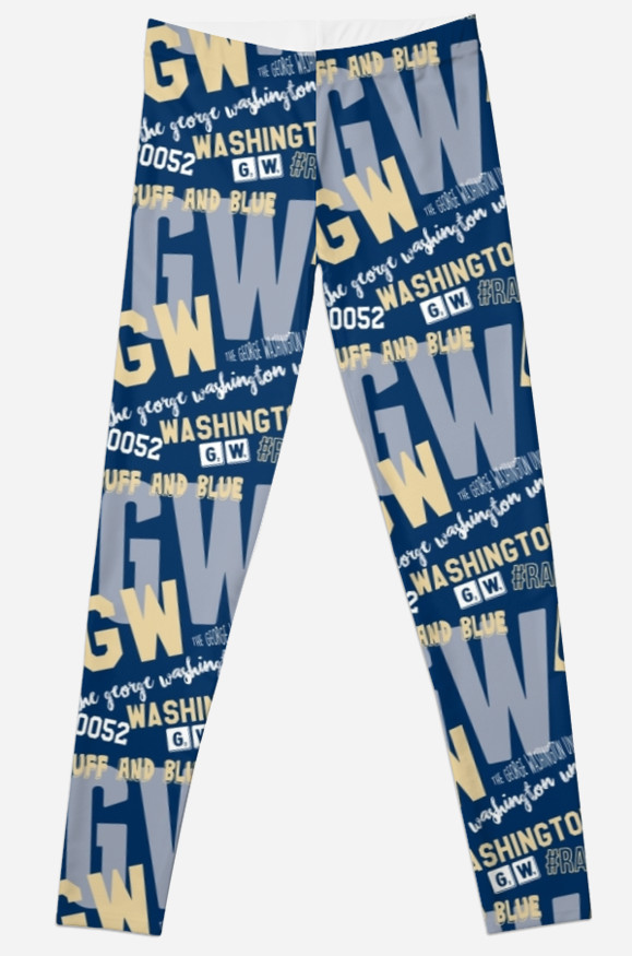 George Washington University Colonials Leggings, School Spirit Design