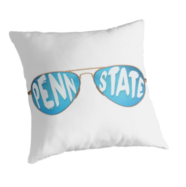 Penn State University Nittany Lions Throw Pillow, Sunglasses Design