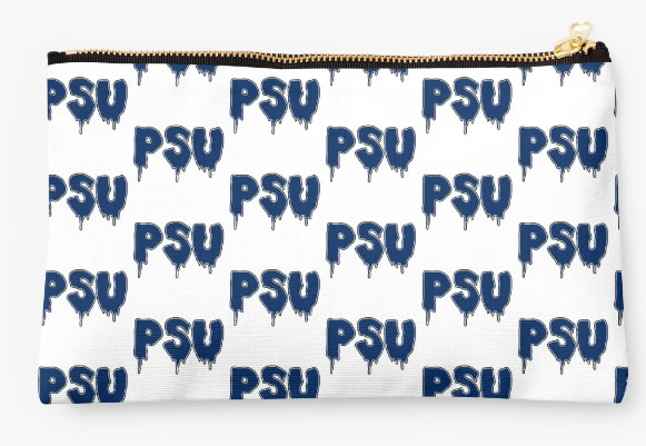 Penn State University Nittany Lions Zippered Pouch, Initials Design