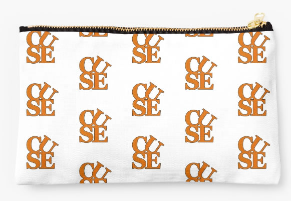 Syracuse University Oranges Zippered Pouch, Initials Design