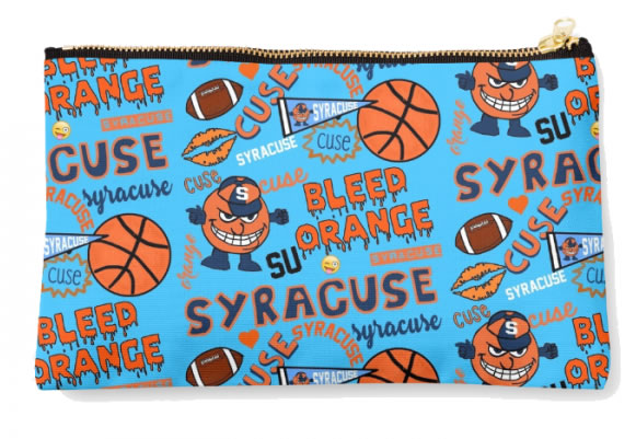 Syracuse University Oranges Zippered Pouch, School Spirit Design