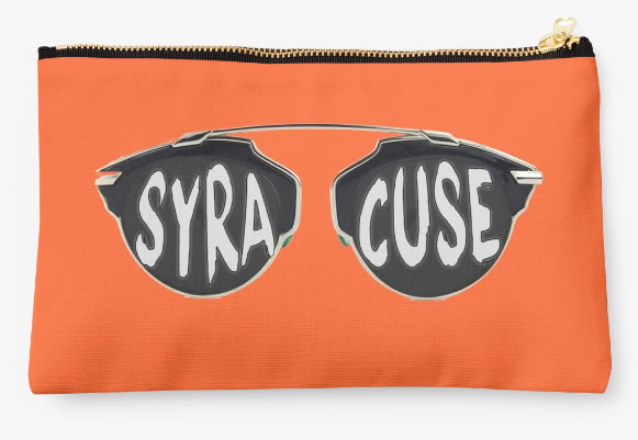 Syracuse University Oranges Zippered Pouch, Sunglasses Design