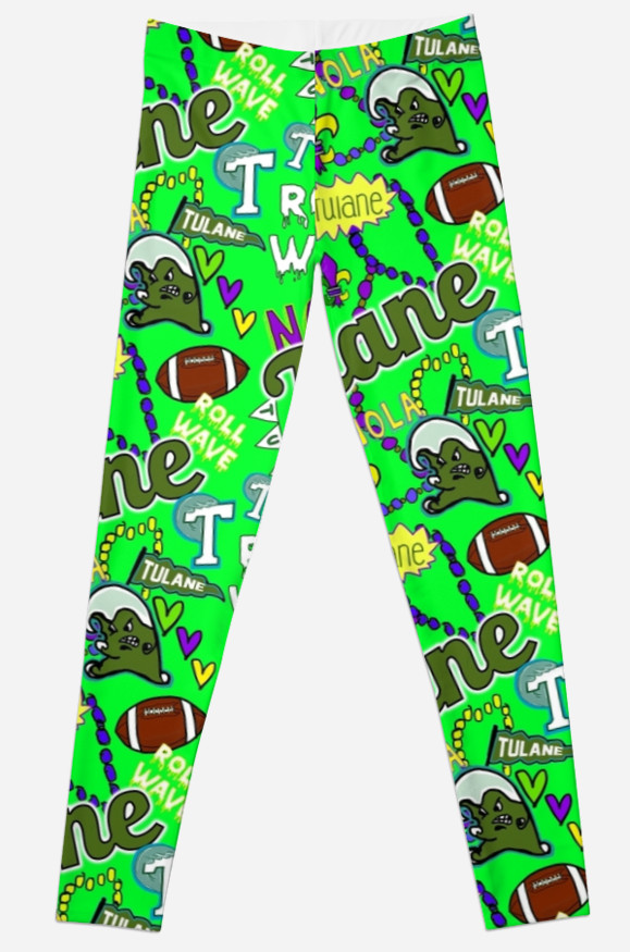 Tulane University Leggings, School Spirit Design