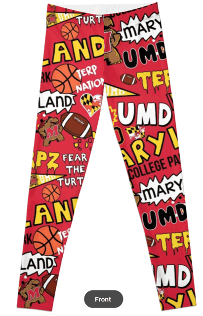 University of Maryland Terrapins Leggins
