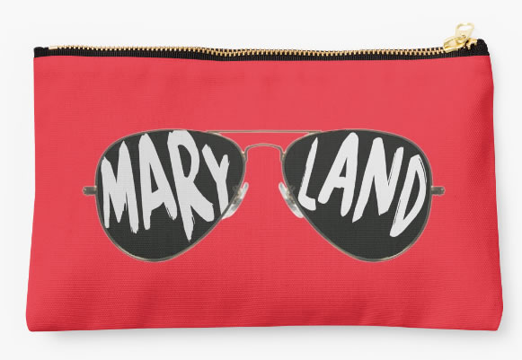 University of Maryland Terrapins Zippered Pouch, Sunglasses Design