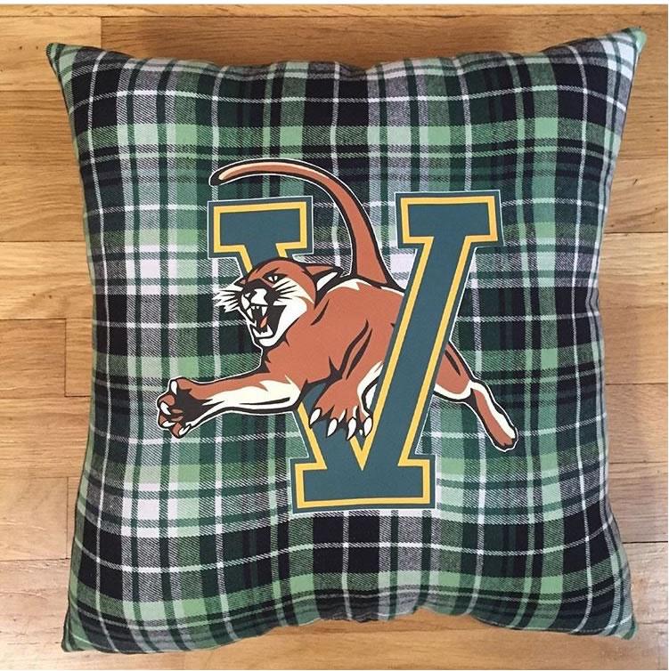 University of Vermont Catamounts Throw Pillow, Mascot Pattern