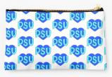 Penn State University Nittany Lions Zippered Pouch, Heart Design
