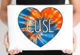 Syracuse University Oranges Zippered Pouch, Heart Design