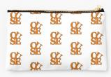 Syracuse University Oranges Zippered Pouch, Initials Design