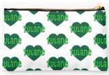 Tulane University Green Waves Zippered Pouch, Heart Design