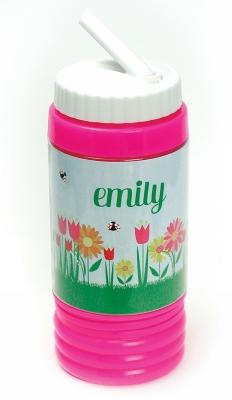 Sport Bottle with Straw - Ladybug Garden