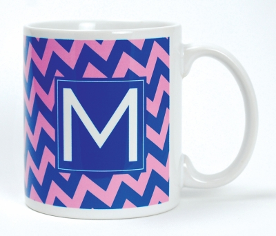 Coffee Mug  - Chevron Blue