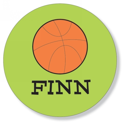 Melamine Plate - Basketball