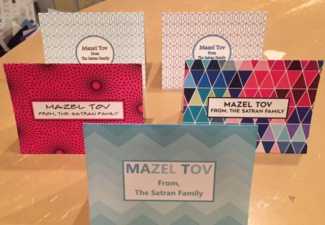 Mazel Tov girl personalized