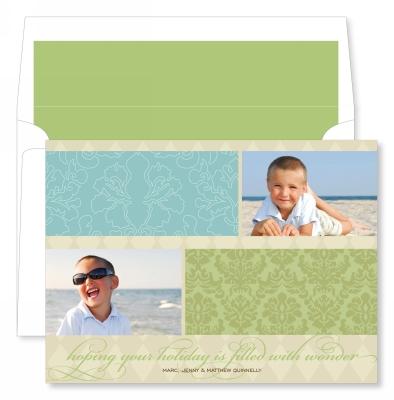 Beach Holiday Flat Photo Card