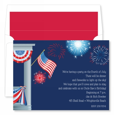 Front Porch Fireworks Invitation