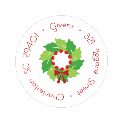 Tiny Iconic Wreath Label