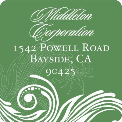 Formal Scroll Conifer Label
