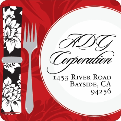 Holiday Dinner Plate Label
