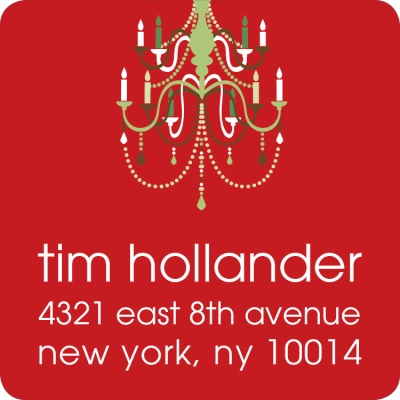 Holiday Chandelier Berry Label