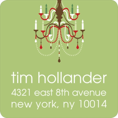 Holiday Chandelier Lime Label